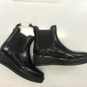 Nicole Miller FROST  Black Ankle Rain Boot 9M